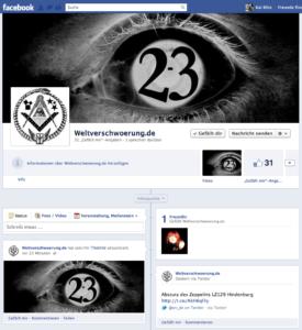 Facebook Fanseite Weltverschwoerung.de