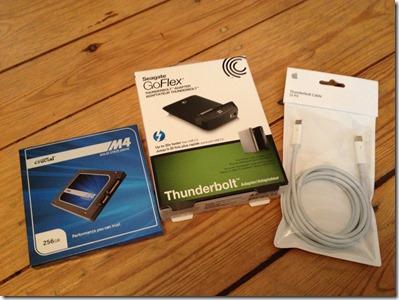 Seagate goflex thunderbold samt SSD