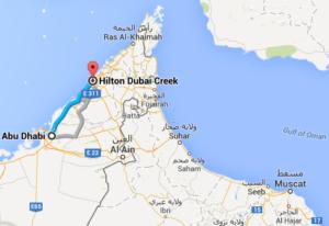 Strecke nach Dubai