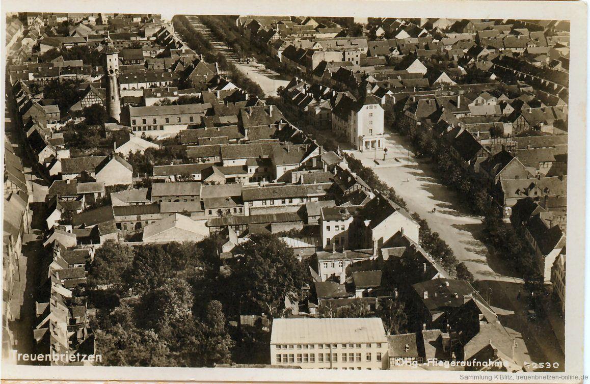 Luftbild Stadtkern Treuenbrietzen ca. 1935