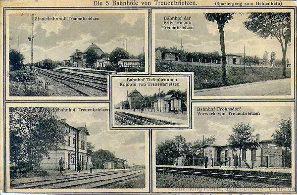 Die fünf Bahnhöfe in Treuenbrietzen
