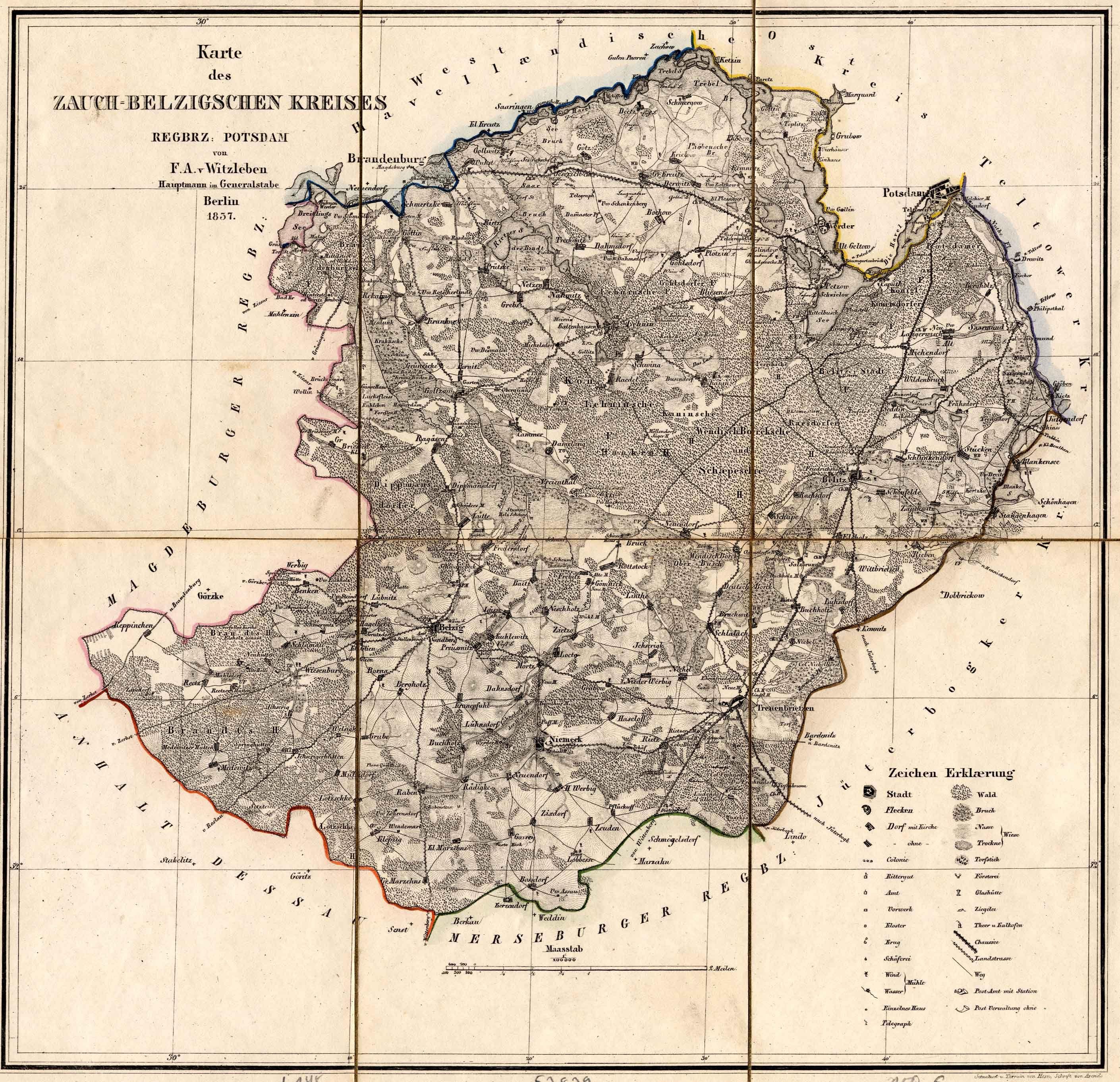 Zauch-Belzigscher Kreis 1837