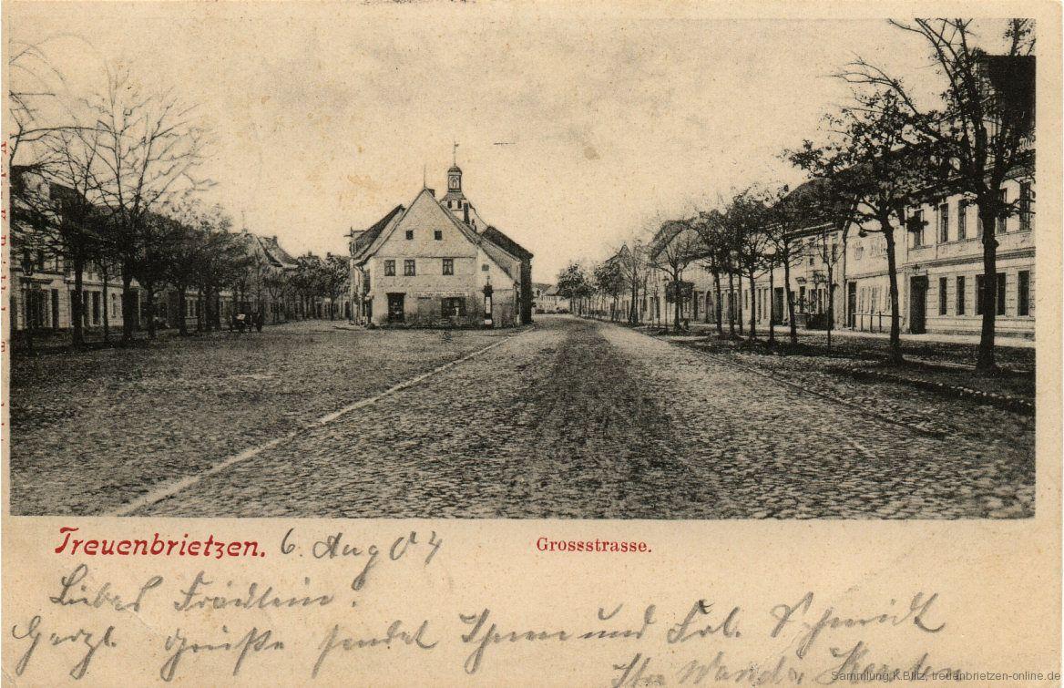 Postkarte Großstraße 1904