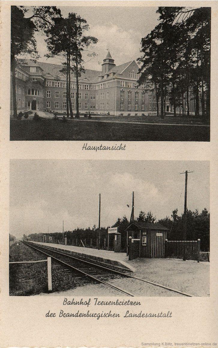 Krankenhaus Treuenbrietzen und Bahnhof