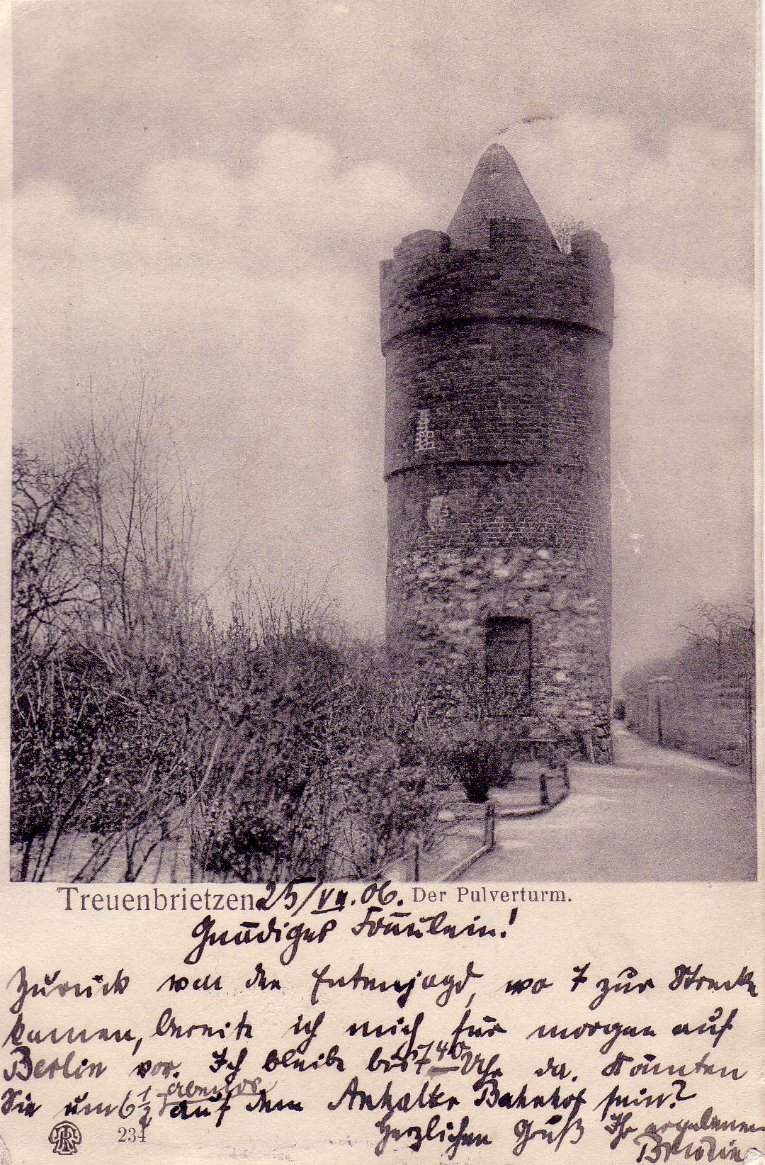 Pulverturm Treuenbrietzen 1906