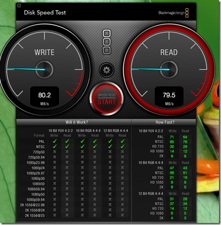 Blackmagic Design Disk Speed Test
