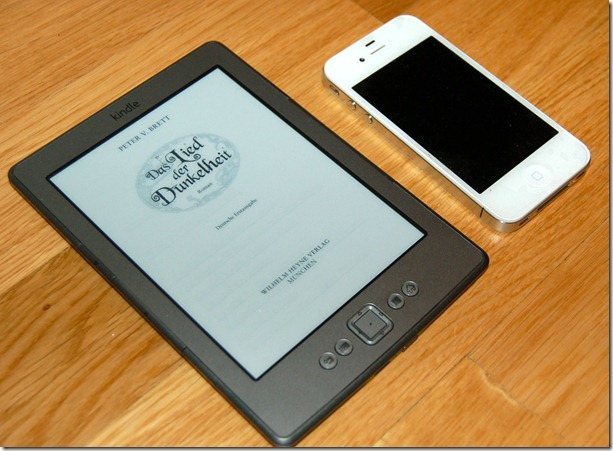 Amazon Kindle size iphone4