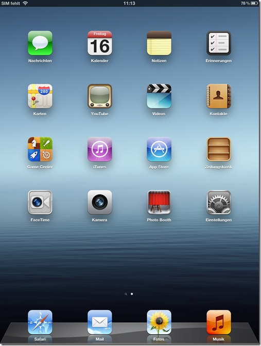 homescreen new ipad