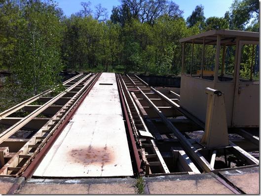 Bahnwerk Jüterbog Ringlokschuppen Drehscheibe