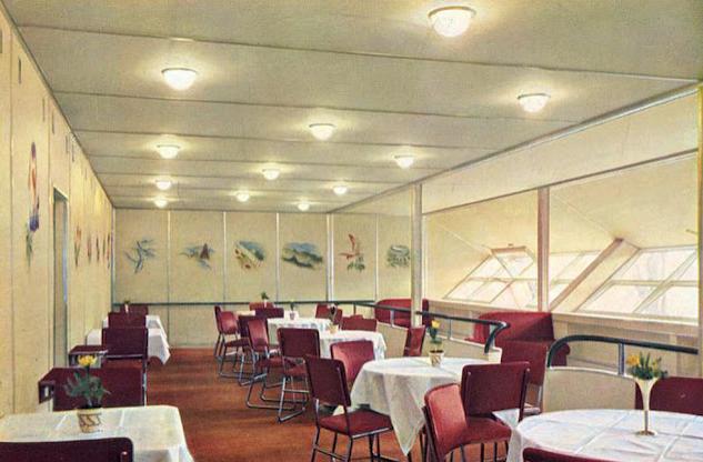Der Speisesaal der Hindenburg