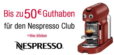 Nespresso 50 Euro Gutschein Aktion